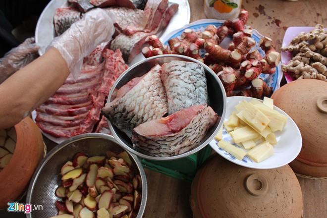 Gia vị làm món cá kho làng Vũ Đại