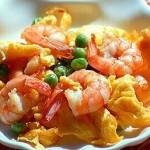 Trứng chiên tôm Ngon thơm hấp dẫn.