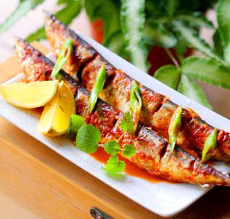 Cá nục nướng ớt Hàn Quốc cực ngon
