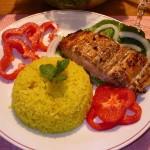 Công thức làm món cơm cá hồi nướng phô mai cực ngon