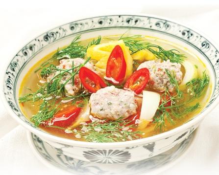 Ngọt vị, nogn cơm với Canh chua chả cá